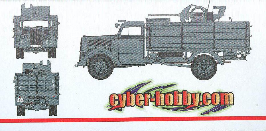 the latest 90ec2 39fa2 Cyber-Hobby.com 1 35 scale German 3t 4x2 Cargo Truck - Smart Kit (Kit No.  6716)